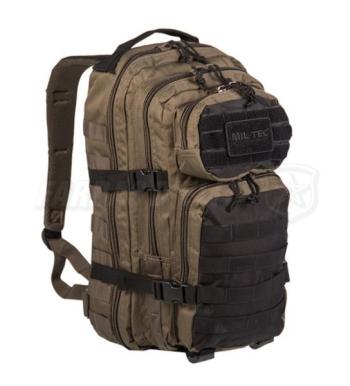Mochila Assault Mil-Tec GREEN/ BLACK  20L