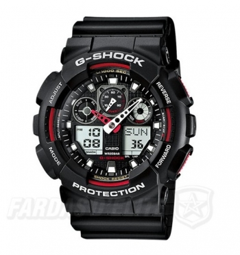 Relógio CASIO G-Shock GA-100-1A4ER VERMELHO