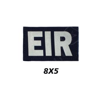 Placa de Velcro EIR AZUL/REFLETOR 8CMX 5CM