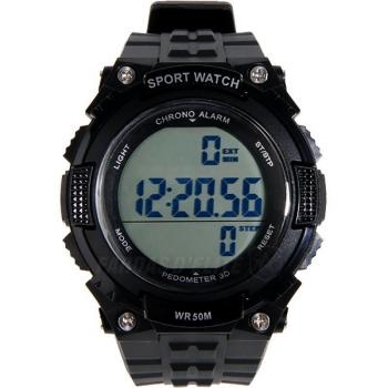 Relógio Delta Tactics Pedômetro Preto