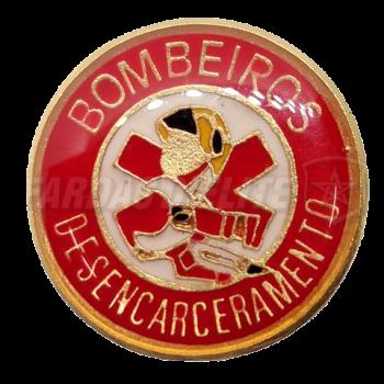 Pin Vitrificado Bombeiros DESENCARCERAMENTO