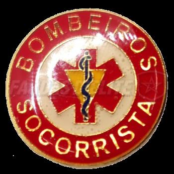 Pin Vitrificado Bombeiros SOCORRISTA