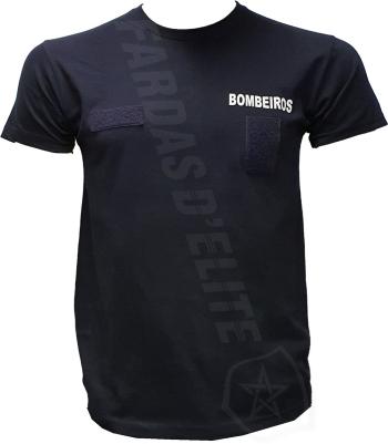 T-Shirt Bombeiros com Velcros Frontais (Nome e Divisa)