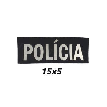 PLACA DE VELCRO POLÍCIA 15CM X 5 CM