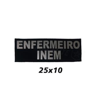 Placa de Velcro ENFERMEIRO INEM 25CM x10CM
