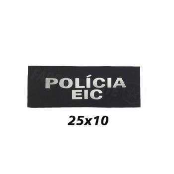 PLACA DE VELCRO POLÍCIA EIC 25CM X 10CM