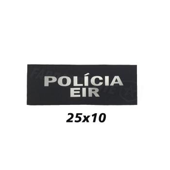 PLACA DE VELCRO POLÍCIA EIR 25CM X 10CM