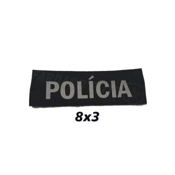PLACA DE VELCRO POLÍCIA 8CM X 3 CM