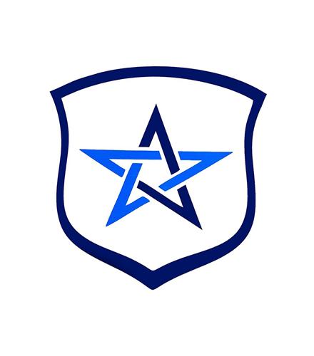 Símbolo Estrela da Vida Pequeno Aborrachado